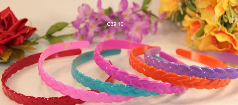 Ободок пластик цв. микс 6 расцветок 13мм - 1 шт.